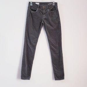 Gap 1969 Gray Corduroy Legging Jean Size 26 r